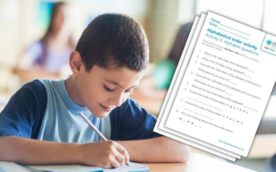 Alphabetical order worksheet pack