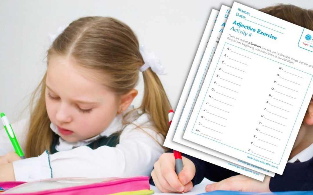 Using adjectives: Worksheet pack