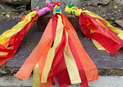 craft dragons tissue paper