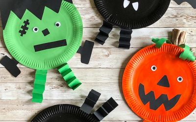 Halloween crafts: Spooky character paper plates