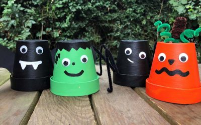 Halloween crafts: Spooky plant pot characters