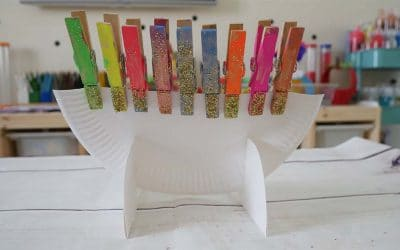 Hanukkah Menorah how-to craft