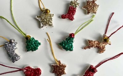 Preschool Christmas Crafts: Clay tree decorations