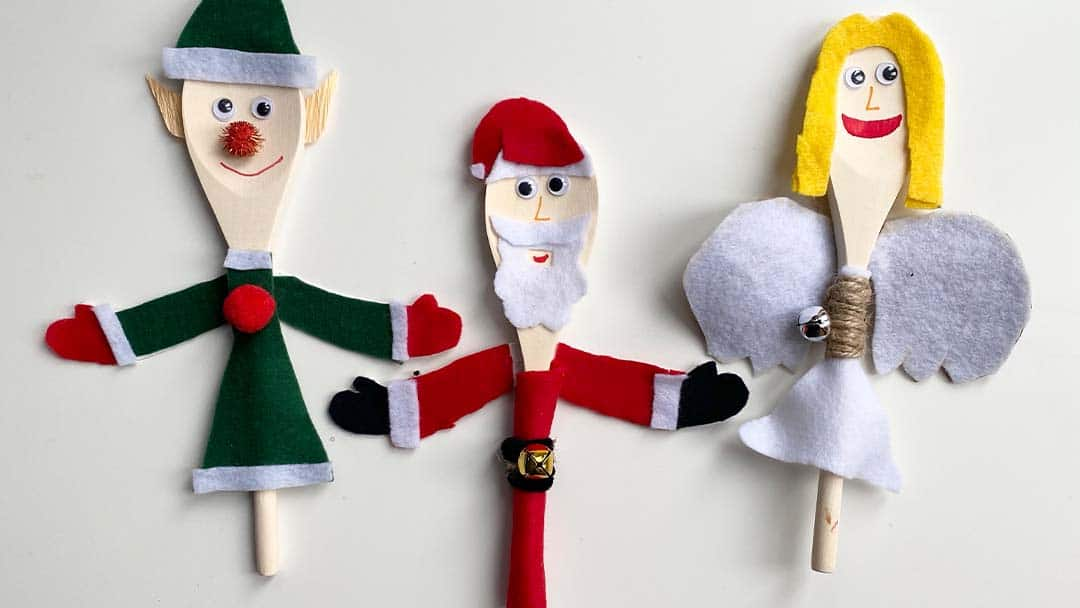 Christmas Crafts: Wooden festive friends