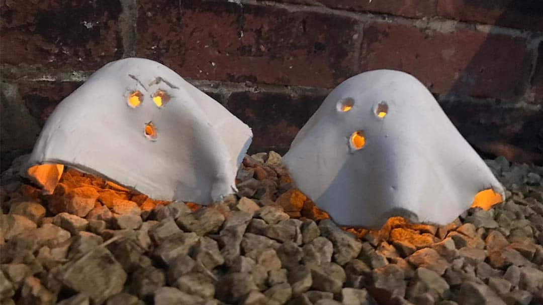 How to make Halloween ghost tealights