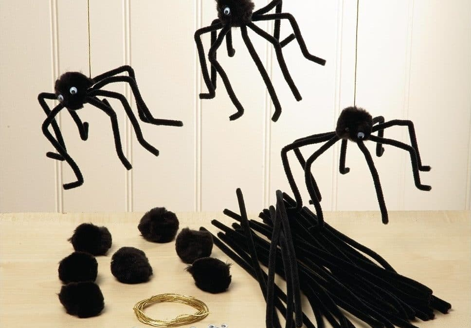 How to make easy pipe cleaner spiders