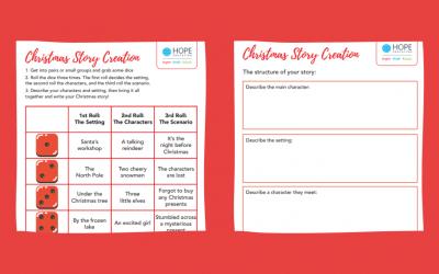Christmas story creation: A festive English worksheet
