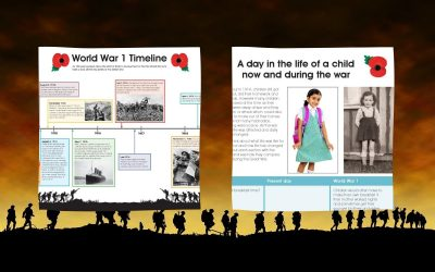 World War 1 lesson resources and activities: A timeline, key figures and life then and now