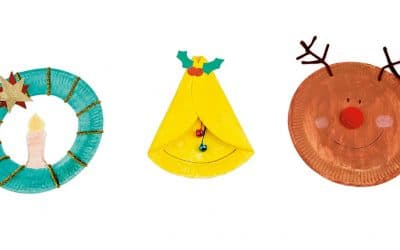 5 Festive paper plate Christmas crafts