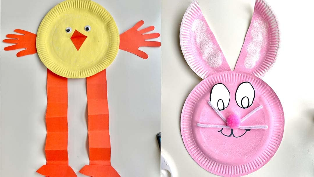 Paper plate Easter crafts for early years