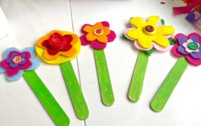 Mother's Day flower bouquet craft for kids