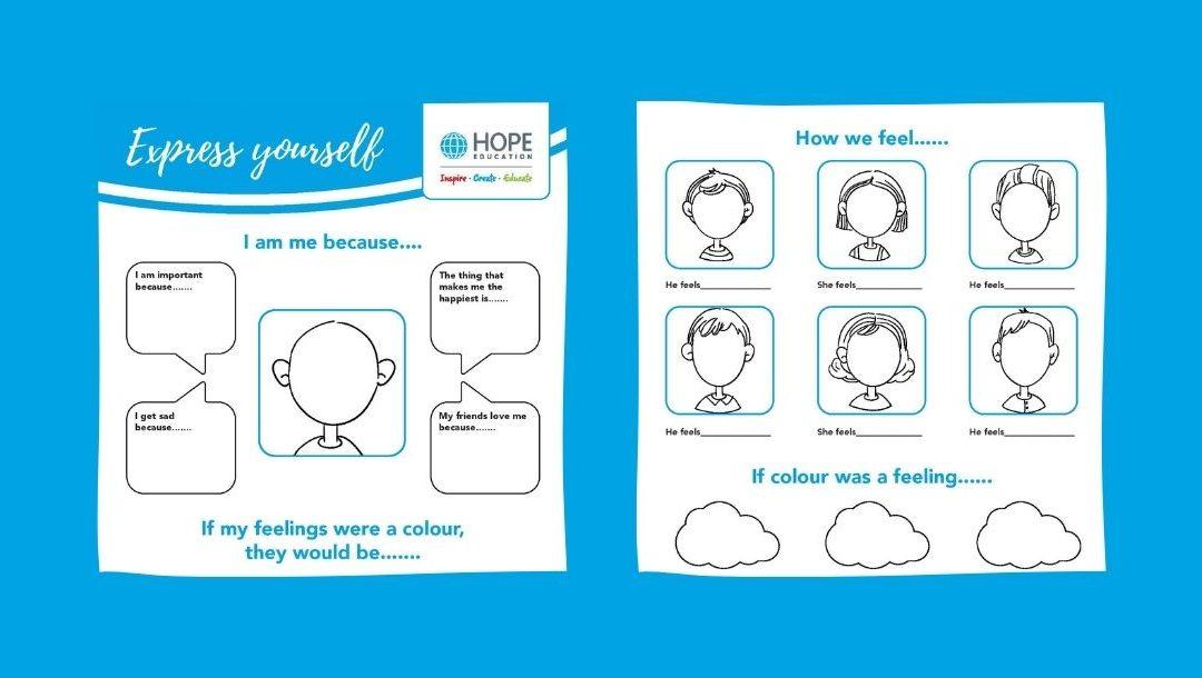 Children's Mental Health Week: Express yourself worksheet