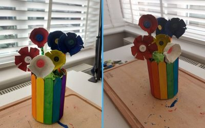Craft: How to make simple egg carton flowers