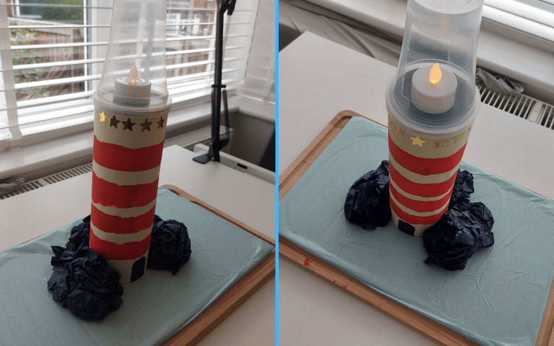 Craft: How to make a cardboard lighthouse