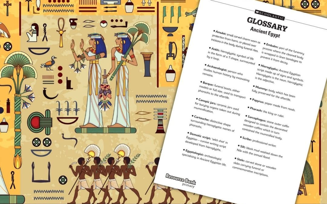 Ancient Egyptian glossary and vocabulary list